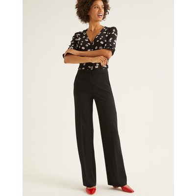 Hampshire Ponte Trousers Black Women Boden, Black
