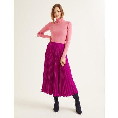 Kristen Pleated Skirt Purple Women Boden, Purple
