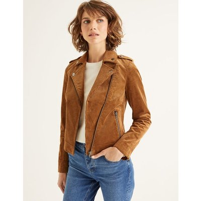 Shilling Biker Jacket Brown Women Boden, Brown