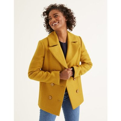 Seacole Pea Coat Yellow Women Boden, Orange