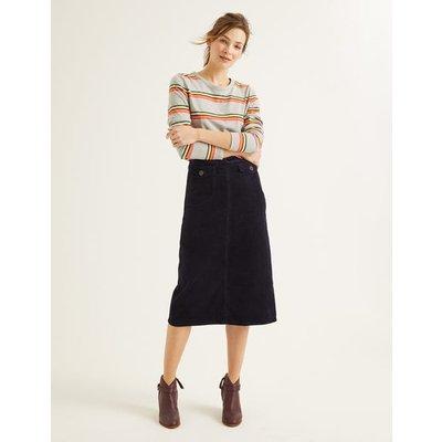 Natalie Midi Skirt Navy Women Boden, Navy