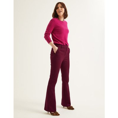 Bath Bi-Stretch Flare Trousers Purple Women Boden, Purple