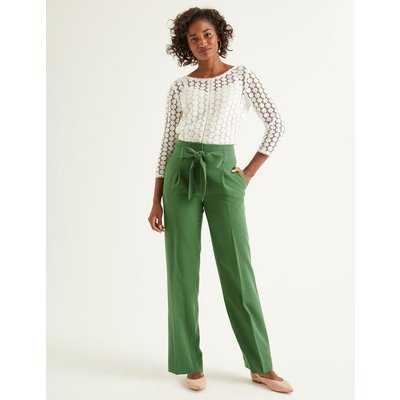 Ketton Wide Leg Trousers Green Women Boden, Green