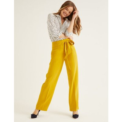 Ketton Wide Leg Trousers Yellow Women Boden, Orange