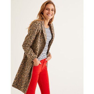 Stanhope Coat Natural Women Boden, Leopard