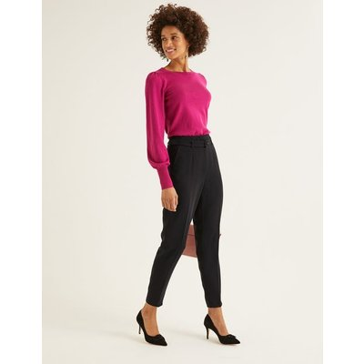 Christina Belted Trousers Black Women Boden, Black
