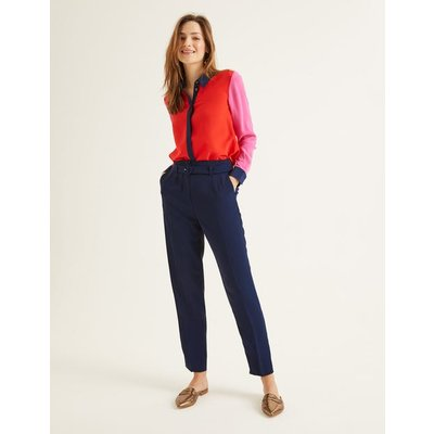 Christina Belted Trousers Navy Women Boden, Navy