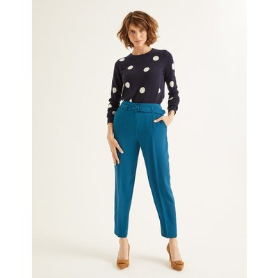 Christina Belted Trousers Blue Women Boden, Blue