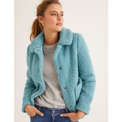 Kemble Teddy Coat Blue Women Boden, Blue