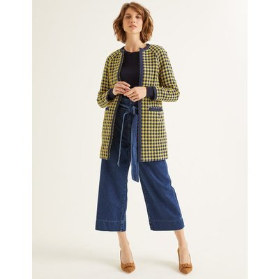 Eliot Coat Yellow Women Boden, Navy
