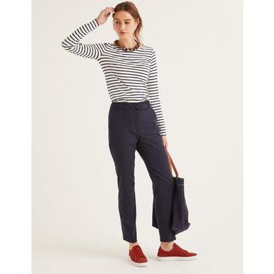 Malden Tweed Trousers Navy Women Boden, Navy