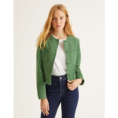 Behn Crop Jacket Green Women Boden, Green