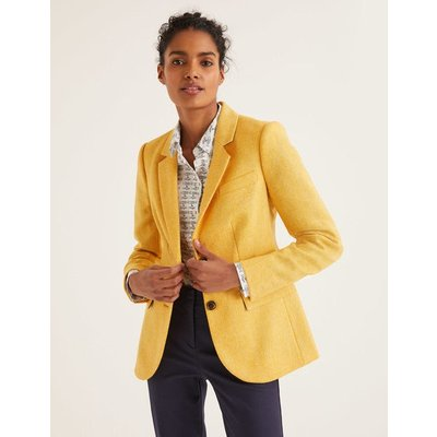 Smyth British Tweed Blazer Yellow Women Boden, yellow