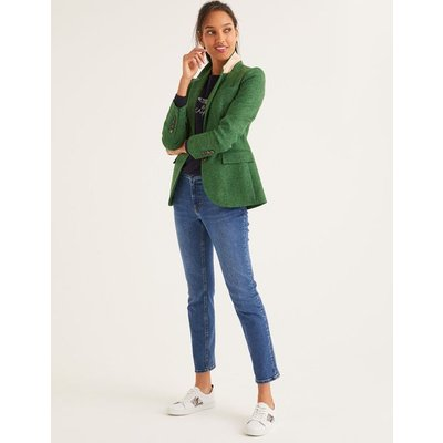 Smyth British Tweed Blazer Green Women Boden, Green