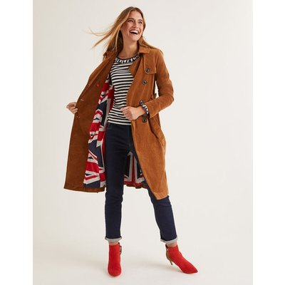 Markham Cord Trench Coat Brown Women Boden, Brown