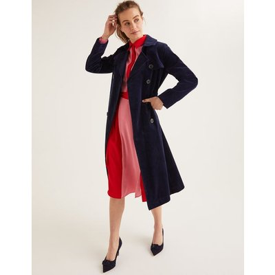 Markham Cord Trench Coat Navy Women Boden, Navy