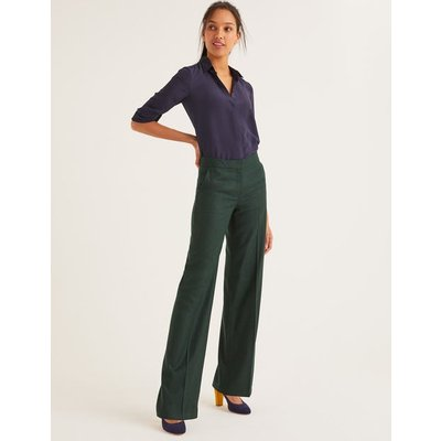 British Tweed Trousers Green Women Boden, Green