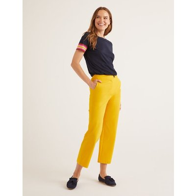 Brampton Cropped Trousers Yellow Women Boden, Yellow