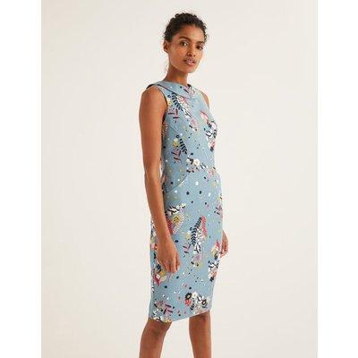 Seam Detail Martha Dress Blue Women Boden, Blue