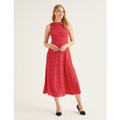 Clarissa Midi Dress Red Women Boden, Navy