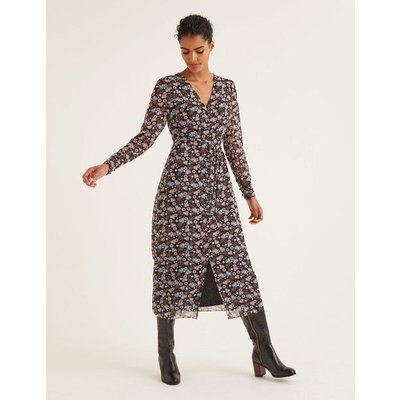 Hazel Midi Dress Black Women Boden, Black
