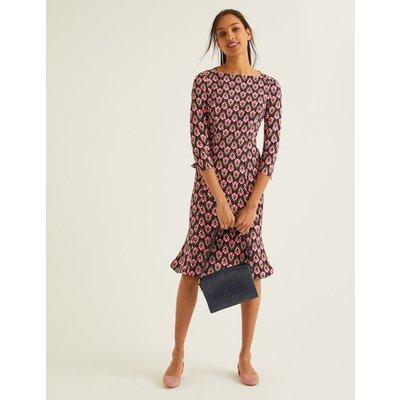 Violette Dress Navy Women Boden, Navy