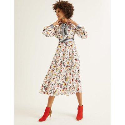Thelma Midi Dress Ivory Women Boden, Ivory