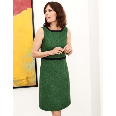 Carrie Tweed Dress Green Women Boden, Green