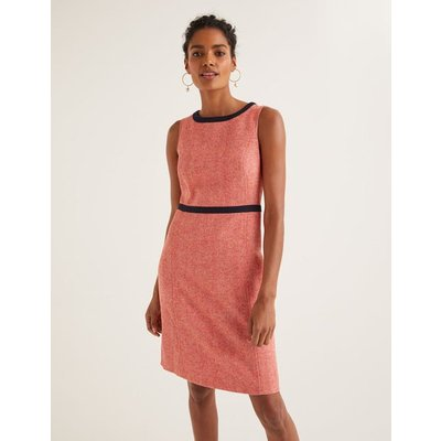 Carrie Tweed Dress Orange Women Boden, Orange