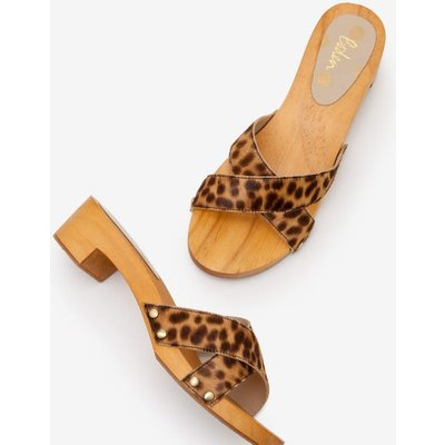 Orella Clogs Brown Women Boden, Leopard
