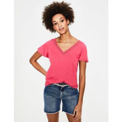 Margie Jersey Top Pink Women Boden, Pink
