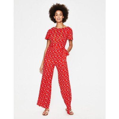 Camille Ponte Jumpsuit Red Women Boden, Red