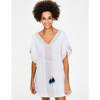 Eloise Jersey Kaftan White Women Boden, Multicouloured