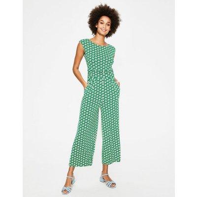 Luna Jersey Jumpsuit Green Women Boden, Green