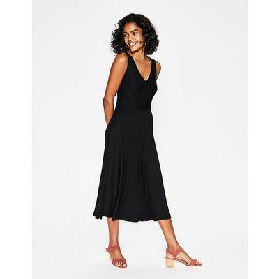 Octavia Jersey Midi Dress Black Women Boden, Black