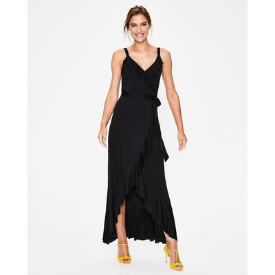 Nora Jersey Maxi Dress Black Women Boden, Black
