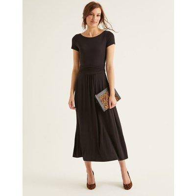 Alda Jersey Midi Dress Black Women Boden, Black