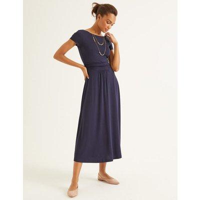 Alda Jersey Midi Dress Navy Women Boden, Navy