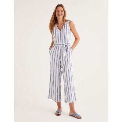 Verity Jumpsuit Blue Women Boden, Multicouloured