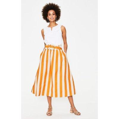 Rebecca Midi Skirt Yellow Ochre and Ivory Stripe Women Boden, Yellow Ochre and Ivory Stripe