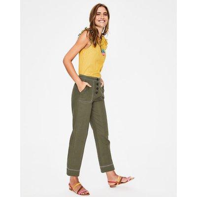 Wadebridge Trousers Khaki Women Boden, Khaki