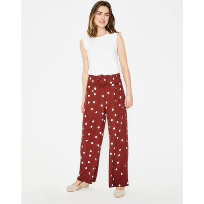 Carrick Wide Leg Trousers Brown Women Boden, Brown