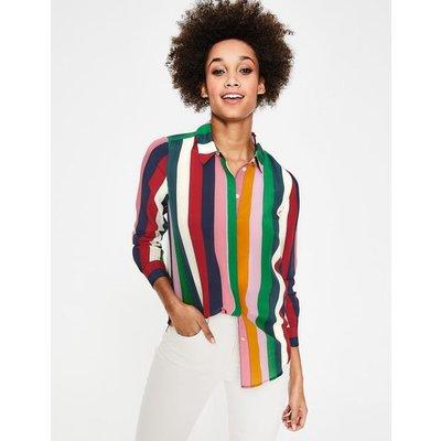 Silk Shirt Multi Women Boden, Multicouloured