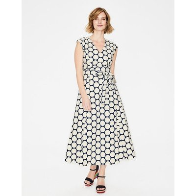 Tori Midi Dress Navy Women Boden, Ivory