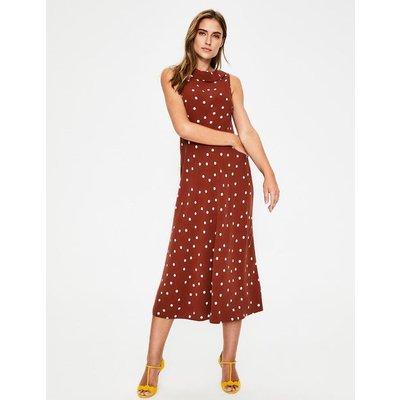 Clarissa Midi Dress Brown Women Boden, Brown