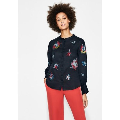 Claudia Embroidered Blouse Navy Women Boden, Navy