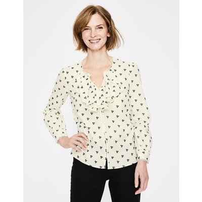 Leah Embroidered Blouse Ivory Women Boden, Ivory