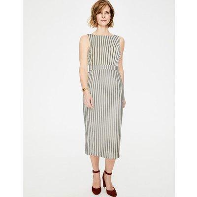 Maggie Midi Dress Ivory & Navy Stripe Women Boden, Ivory & Navy Stripe