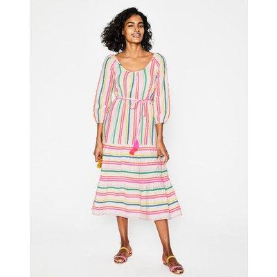 Cordelia Midi Dress Multi Women Boden, Pink