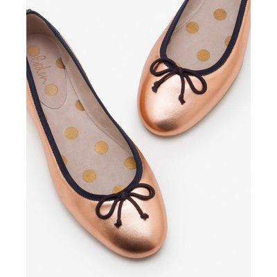 Ballerinas Metallic Women Boden, Gold pink